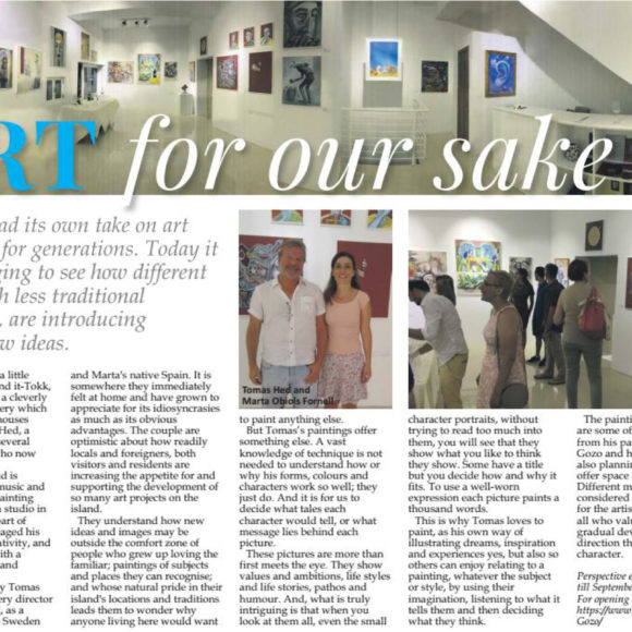 Malta Independent: ART for our sake